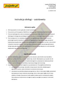 Instrukcja autolaweta